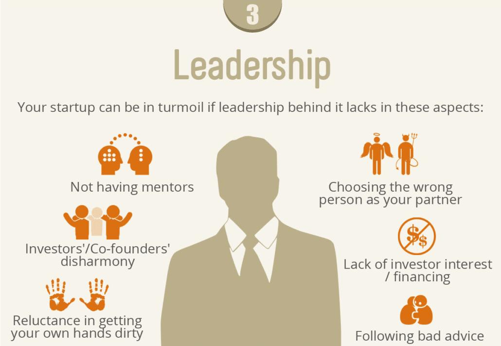 """Ausschnitt aus Infografik """"Why startups fail"""" - Ein Klick auf das Bild öffnet das vollständige Original"""